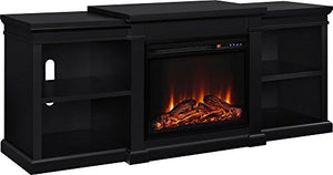 "Ameriwood Home Manchester Electric Fireplace TV Stand for TVs up to 70"", Black"