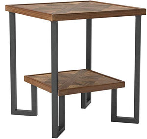 "Amazon Brand – Stone & Beam Bernice Industrial Reclaimed Fir Wood Side End Table, 20""W, Natural and Black"