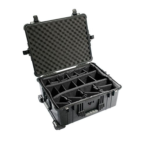 Pelican 1614 Black Case with Padded Dividers