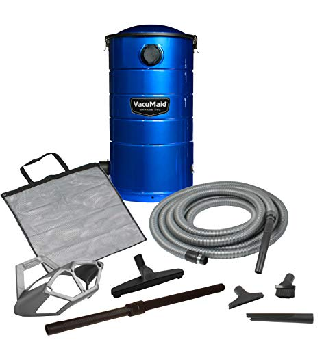 VacuMaid GV50B Wall Mounted Garage and Car Vacuum with 50 ft hose and Tools