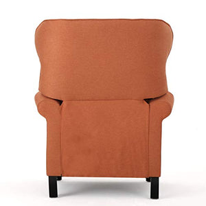 Christopher Knight Home Walder Tufted Fabric Recliner, Orange