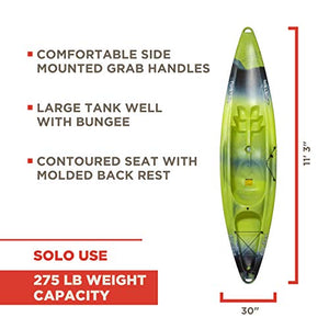 Old Town Twister Sit-On-Top Kayak, Lime Camo, 11 Feet 3 Inches