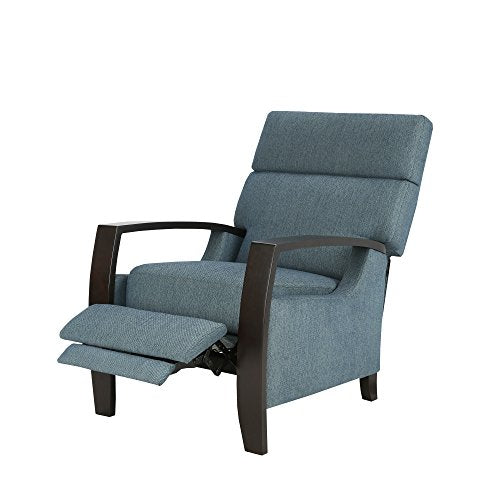 Madison Park Katniss Push Back Recliner Blue See Below