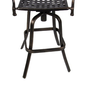 Best Choice Products Cast Aluminum Swivel Patio Bar Stool w/ Antique Design for Outdoor - Copper