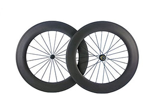 Queen Bike 88mm Carbon Wheels 700c Wheelset Matte Finish Bike Carbon Wheels Clincher