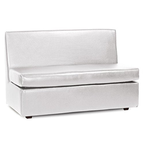 Howard Elliott Slipper Loveseat With Cover, Luxe Mercury