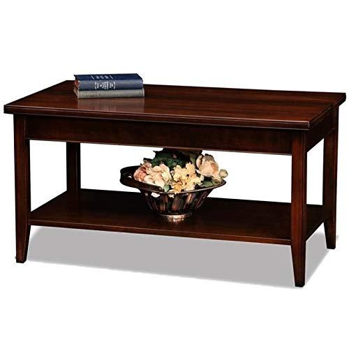 BOWERY HILL Small Solid Wood Coffee Table in Chocolate Cherry