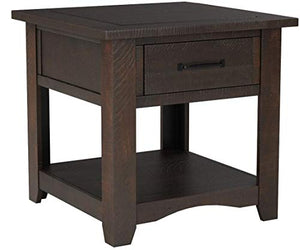 Martin Svensson Home Rustic End Table Espresso