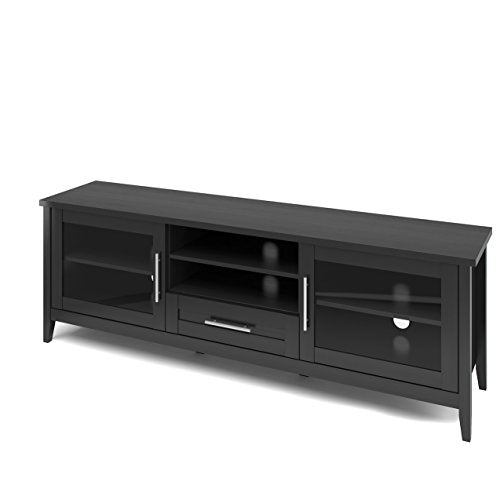 "CorLiving Jackson TV Bench, 80"", Black Wood Grain"