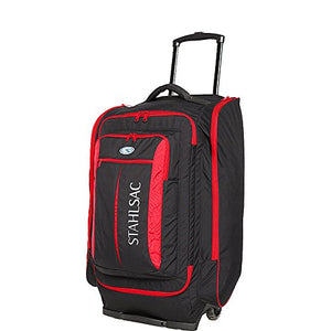 Stahlsac 10 lbs Caicos Cargo Travel Roller Bag Black/Red