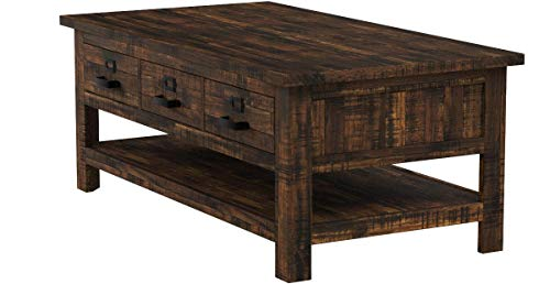 "Jofran: , Cannon Valley, Rectangle Cocktail Table, 48""W X 26""D X 19""H, Cannon Valley Finish, (Set of 1)"