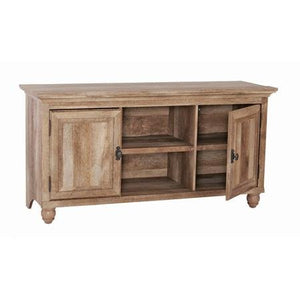 "Better Homes and Gardens Crossmill Collection TV Stand Buffet for TVs up to 65"" With 3 Adjustable Shelves Weathered"
