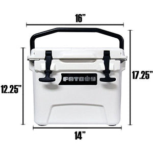 Fatboy 10QT Rotomolded Cooler Chest Ice Box Hard Lunch Box - White