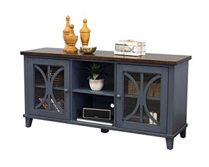 "Martin Furniture 60"" Console, Rich Denim Blue"