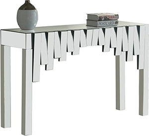 "Meridian Furniture Modern | Contemporary Mirrored Console Table, 48"" W x 15.5"" D x 31"" H,"