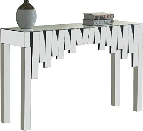 Meridian Furniture Modern | Contemporary Mirrored Console Table, 48