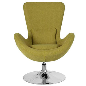Flash Furniture Egg Series Green Fabric Side Reception Chair