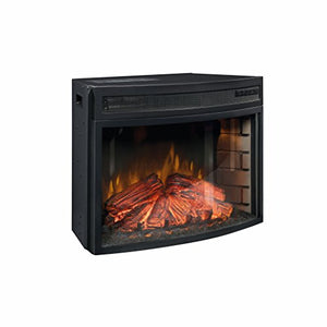 "Sauder Fireplace Insert - Paite 26"" Curved, Black"