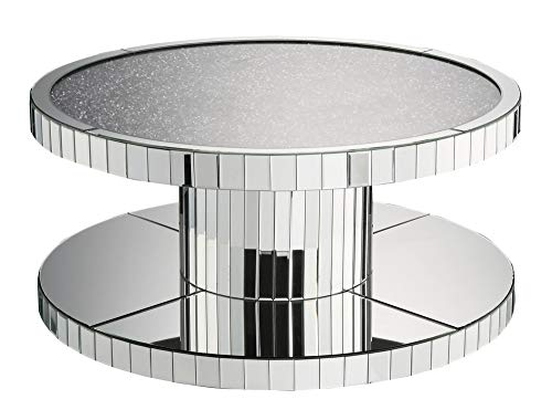 ACME Coffee Table, Mirrored and Faux Stones
