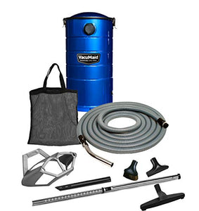 VacuMaid GV50BPRO Professional Wall Mounted Garage and Car Vacuum with 50 ft. Hose and Tools