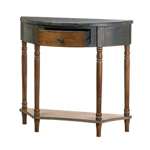 Wood Half-Moon Hall Table 34x13x32""
