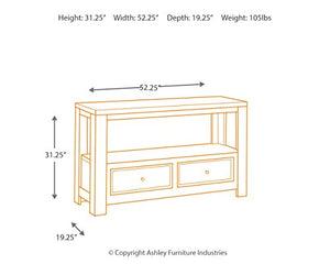 Signature Design by Ashley Gavelston Sofa Table Rubbed Black