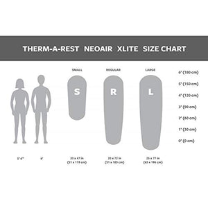 Therm-a-Rest NeoAir Xlite Ultralight Backpacking Air Mattress, Standard Valve, Regular - 20 x 72 Inches