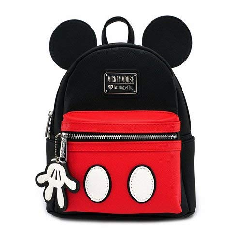 Loungefly x Mickey Suit Mini Saffiano Faux Leather Backpack