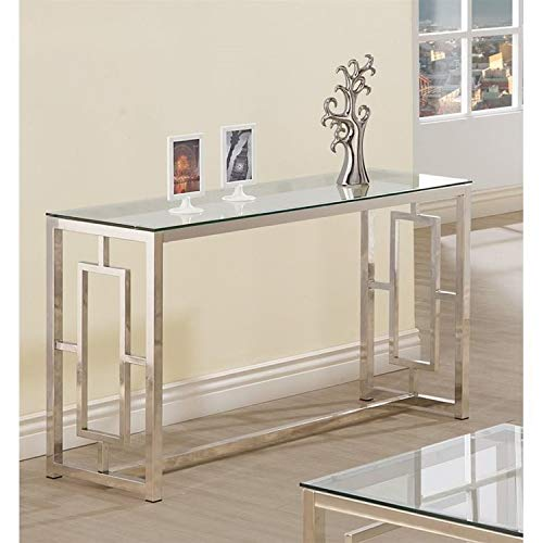 Console Table for Entryway Glass Top Modern Hall Room Furniture Metal Base Foyer Decor
