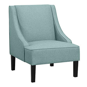"Amazon Brand – Ravenna Home Eddison Modern Slope Accent Chair, 32""W, Blue"
