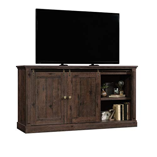 "Sauder New Grange Credenza, For TV's up To 70"", Coffee Oak finish"