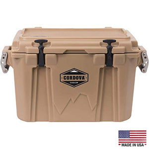 Cordova Coolers Small Cooler - 28 Quart/Can Capacity Portable Insulated Hard-Sided Cooler with Carrying Handles & 5-Days of Ice Retention - CCSS-28QT