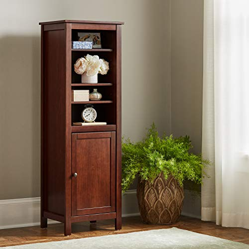 "Amazon Brand – Ravenna Home Rola Rustic Storage TV Tower Media Cabinet, 19.7""W, Dark Espresso"