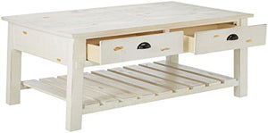 Progressive Furniture Willow Rectangular Cocktail Table, White