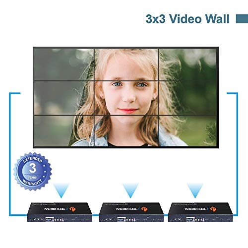 J-Tech Digital Video Wall Controller 3X3 2X2 1X4 3X1. Multi-Channel inputs HDMI VGA AV USB for LCD LED Video Wall Display with Cascading Function Control4 Driver Avaliable[JTECH-VW02]