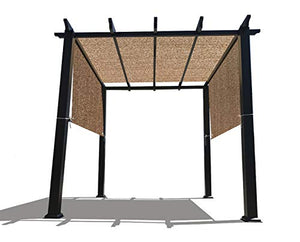 Alion Home 16 x 6.5 Ft Universal Pergola Replacement Canopy Shade Cover with Breathable HDPE Fabric & Rod Pockets (16' L x 80'' W, Walnut)