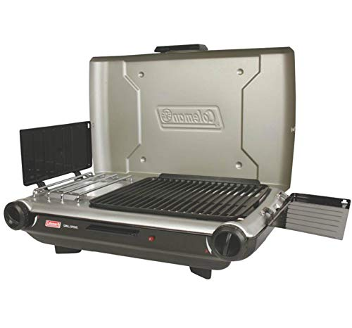 Coleman 2 Burner Grill Stove Combo Silver/Black 2000020925