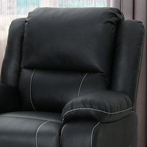 Christopher Knight Home 304568 Teresa Swivel Recliner, Black + Black