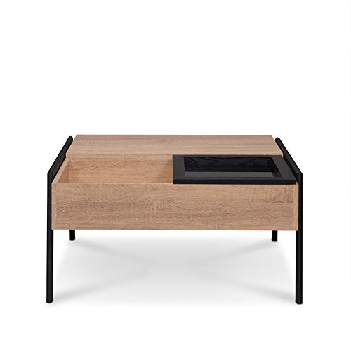 ACME Furniture 83885 Fakhanu Rustic Natural and Black Coffee Table with Lift Top