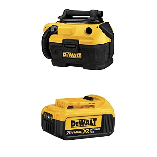 DEWALT DCV581H 18/20-Volt MAX Cordless/Corded Wet-Dry Vacuum with 20V Max Premium XR Li-Ion Battery Pack