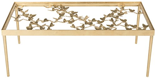 Safavieh Home Collection Rosalia Antique Gold Butterfly Coffee Table