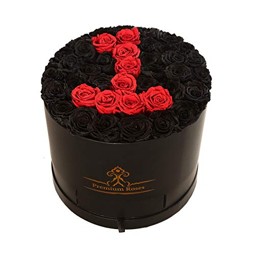 Premium Roses| Real Roses That Last a Year | Fresh Flowers| Roses in a Box (Custom Box, Large)