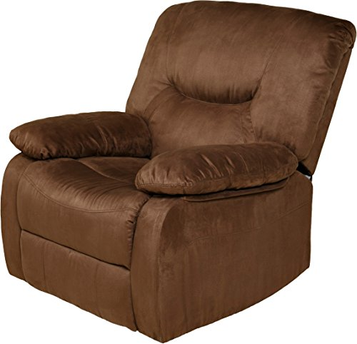 Relaxzen Rocker Recliner, Brown Microfiber