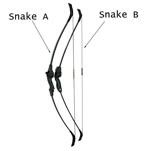 "SinoArt Snake-A Adjustable Takedown Recurve Fishing Bow Adjustable Length 51.5""-53.5"" Draw Weight 25-26.5 Lb Right and Left Hand Archery for Outdoor Hunting Shooting (Snake-A)"