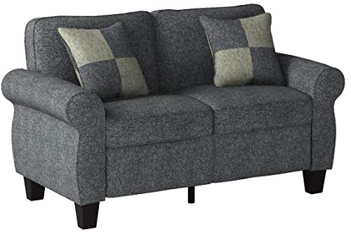 HOMES: Inside + Out Loveseat, Dark Gray