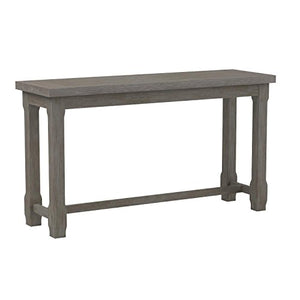 Emerald Home Paladin Rustic Charcoal Gray Sofa Table with Plank Style Top And Farmhouse Timber Legs