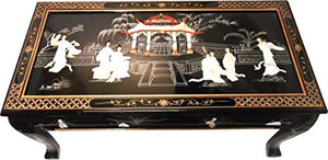 Ball and Claw Lacquer Mother of Pearl Inlaid Dragon Coffee Table