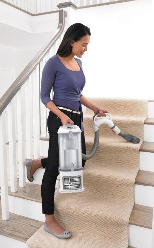 Shark Navigator Professional Upright Corded Bagless Carpet and Hard Floor with Lift-Away Hand Vacuum and Anti-Allergy Seal (NV370), White and Silver