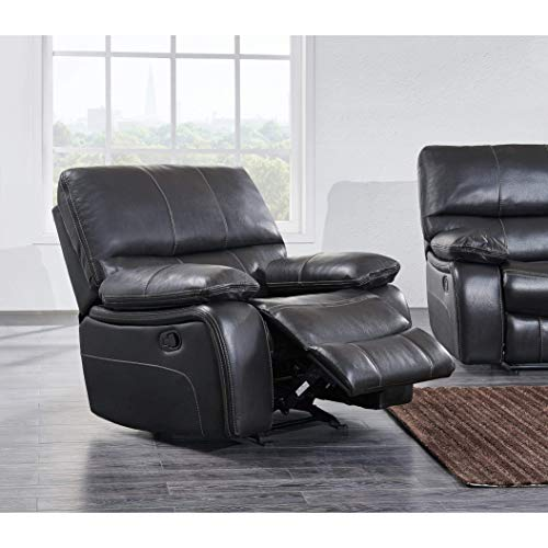 Global Furniture Glider Recliner, Grey/Black
