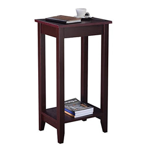 CHSGJY Set of 2 Tall End Table Coffee Stand Night Side Accent Furniture Brown Home Decor